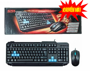 Combo Keyboard + Mouse Motospeed S51 USB Đen
